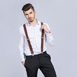 Image 5 - ใหม่ Man Suspenders 3 คลิปหนังวงเล็บลำลอง Suspensorios กางเกงสายคล้อง 3.5*120 ซม.ของขวัญสำหรับพ่อสูงคุณภาพ Tirantes