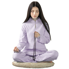 2016 Clothes Women Long-sleeved Yoga Sets Pants and Blouse Suites Cotton Lady Meditation Yoga Fitness Body Building Clothing