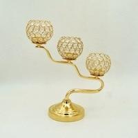 European iron art BBK hollow crystal candlestick wedding gift, romantic dinner, wedding props, home furnishing items