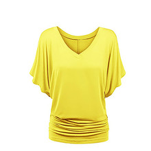 S -5xl Plus Size Blouse Summer Womens Tops And Blouses Loose Big Pink Violet V -Neck Yellow Shirt Femmes Top