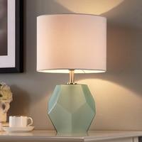 Lampe de Table moderne Tissu Abat-Jour LED Lamparas de mesa Dépoli Diamant Lampe De bureau En Verre Éclairage À La Maison Déco Luminaria de mesa