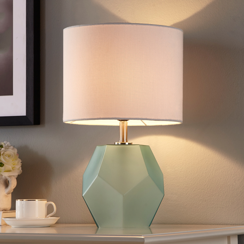 Modern Table Lamp Fabric Lampshade LED Lamparas de mesa Frosted Diamond Glass Desk Light Home Lighting Deco Luminaria de mesa trazos modern table lamp with fabric lampshade led lamparas de mesa metal desk light e27 hotel lighting deco luminaria de mesa