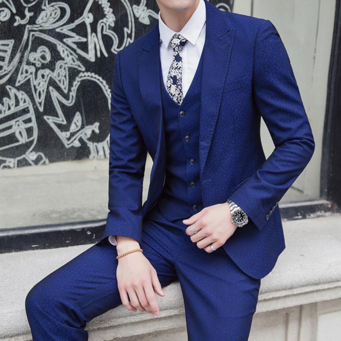 Arrivée Pour Les Mode Photo Nouvelle Costumes Manteau Vêtements Hommes Same Pantalon Mariage Qualité Costume De 2019 gilet Color Marque Haute Homme xfpBgq