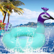 Ginormous Flamingo Giant Unicorn Inflatable Boat Pool Party Float Air Mattress Swimming Ring Toys(China)
