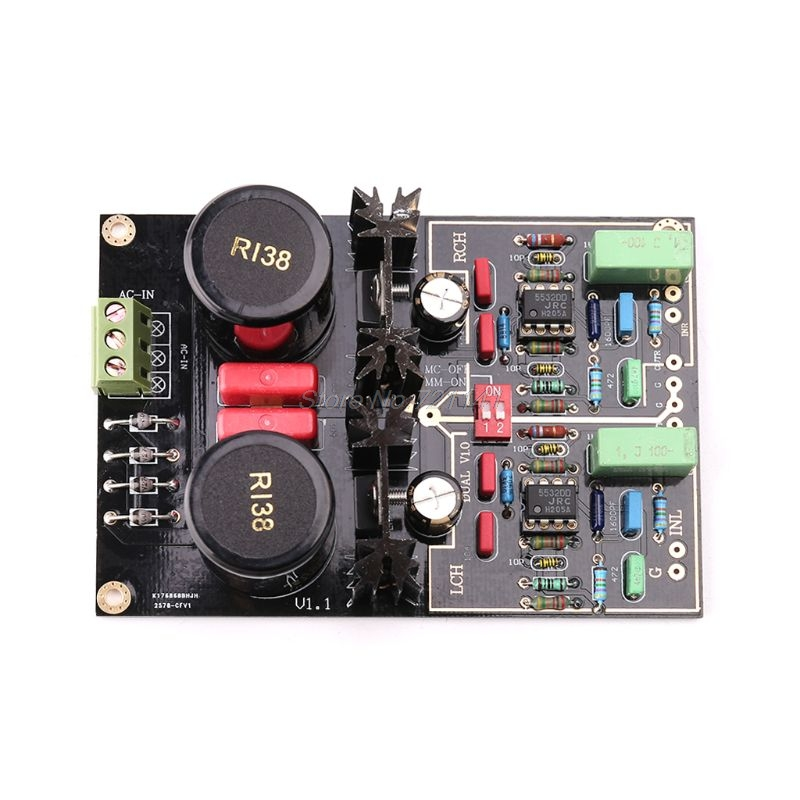 Dual Phono Turntable Preamplifier With Selectable MM/MC Module For Vinyl Record Player DropshipDual Phono Turntable Preamplifier With Selectable MM/MC Module For Vinyl Record Player Dropship
