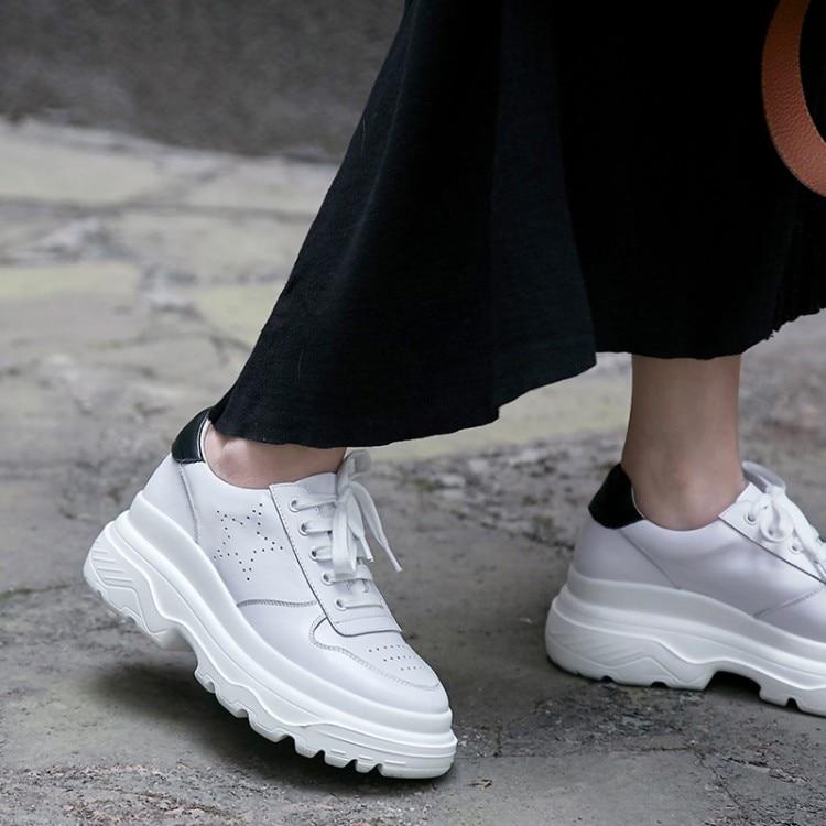 Plataforma Plana Blanco Zapatos Cuero Vaca Deporte Zapatillas De {zorssar} Genuino Cómodos Calidad Alta Planos Mujer Casuales 2018 x7aOAxwqB