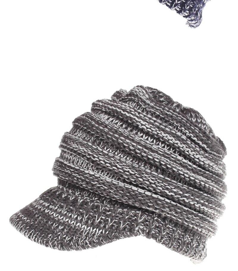 beaaca5b1a513 Hat Women Knitted Hat Ladies Ponytail Beanie Caps For Women Twist Headwrap  27