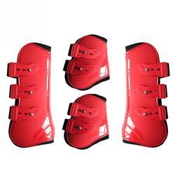 Botas de pata de caballo traseras delanteras ajustables envoltura de protección fácil de limpiar y mantener alta calidad y cómoda protección de caballo