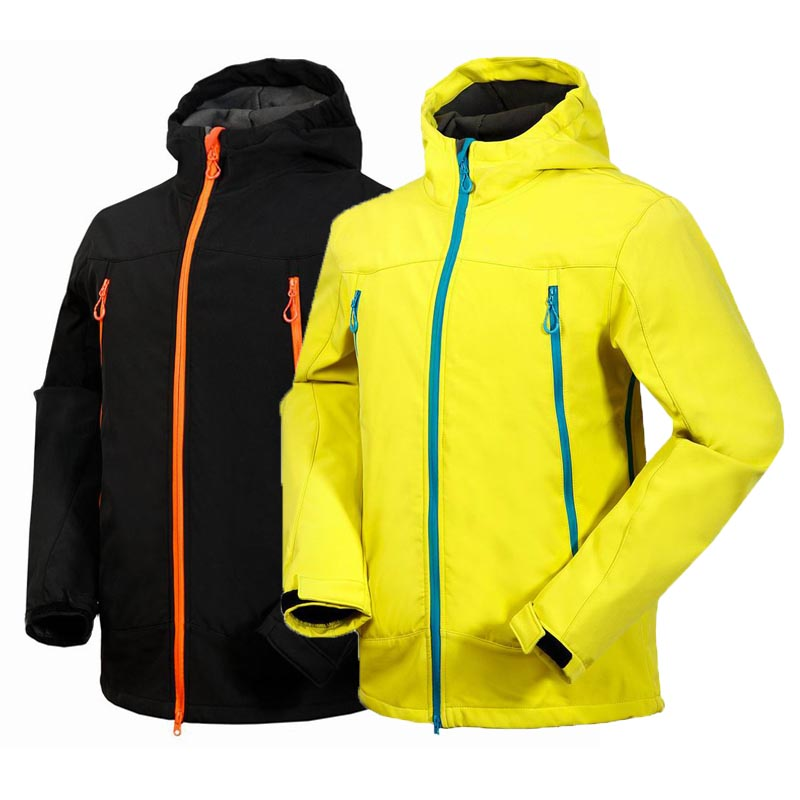 Autumn Spring Outdoor Clothing Men Fleece Thermal Jacket Soft shell Waterproof Windproof Jacket Skiing Climbing Hiking Jacket
