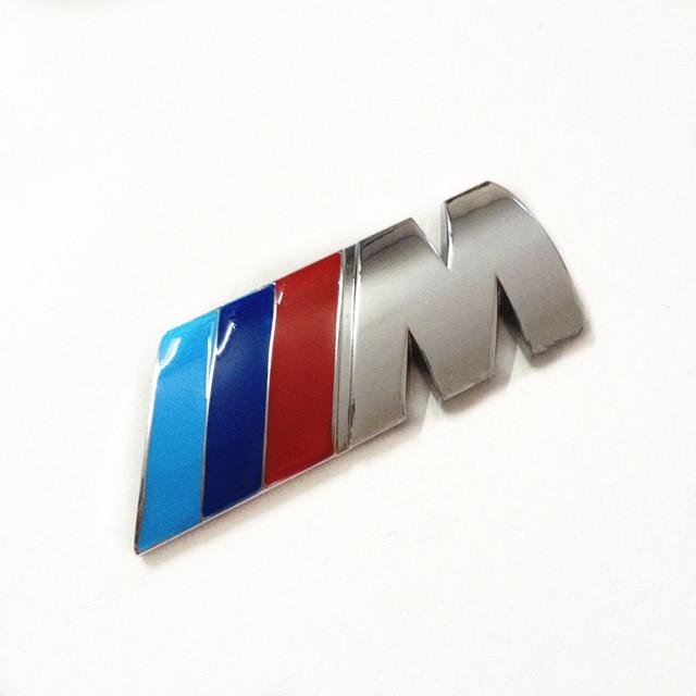 For Bmw M Emblem Mpower M Tech Badge Logo Sticker Car Rear Trunk