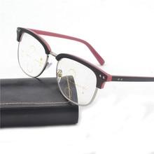 11cae838b72c2 Multi-focal Progressiva Óculos De Leitura Homens Óculos de Dioptria  Presbiopia Óculos de Leitura Clara Inteligência Multifocal F..