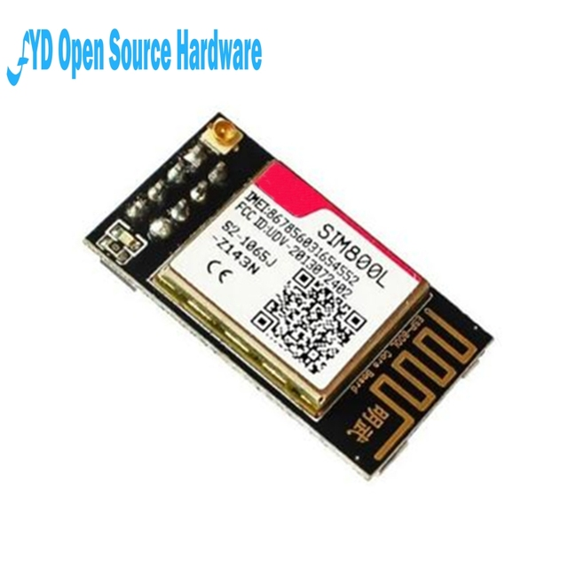 US $3 5 5% OFF|1pcs SIM800L GPRS GSM Module MicroSIM Card Core Board Quad  band TTL Serial Port for ESP8266 ESP32-in Integrated Circuits from