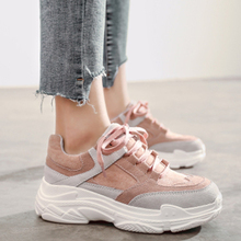 Купить с кэшбэком HEE GRAND Casual Shoes Women Spring 2019 New Fashion Sneakers Platform Flats Comfort Round Toe Lace Up Shoes Female 9 XWD7218