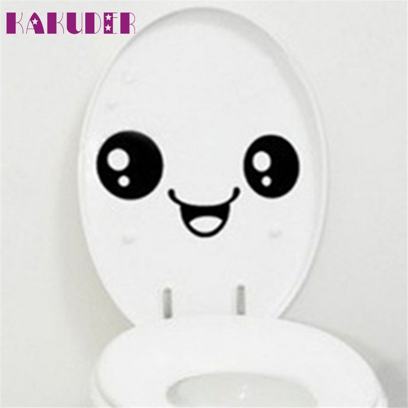 Toilet Sticker Stuck Lovely Smiling Face FreeTo Stick Notebook Stick To Toilet Sticker Levert Dropship mar6