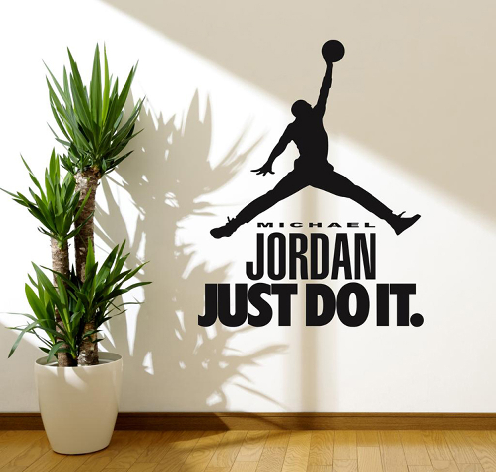 Michael jordan decal wall sticker art home decor for Autocollant decoration