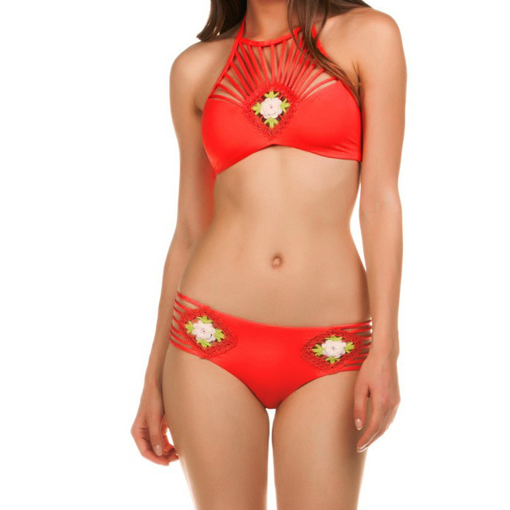 Reasonable Bikini 2019 Sexy Womens Solid Hollow-out Swimwear Sexy Swimwear Swimsuit Bikini Bathing Suits Biquini Pool Sexy Youth Elegant In Style Access Control