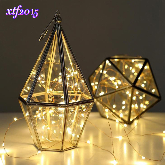 40leds Led Wedding Starry String Lights Waterproof Holiday Fairy Copper Battery Lamp For Gl Craft Bottle