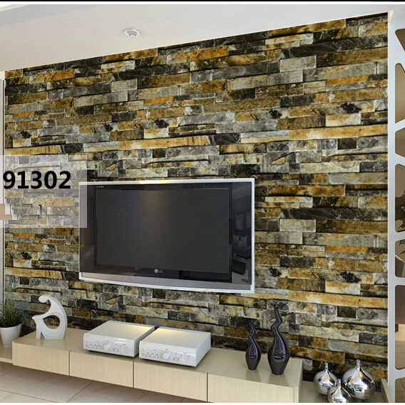 3d rock brick stone wallpaper rolls papel de parede for living room TV backdrop wall paper 3d vinyl wallcoverings 3d bookshelf wallpaper rolls for study room of american vintage chinese style background 3d wall paper papel de parede