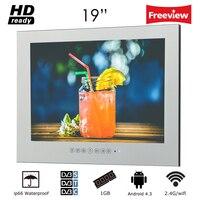 Souria 19 дюймов WiFi HD Smart waterproof Android светодио дный интернет LED телевизор ванная комната высокого класса зеркало ТВ бескаркасное настенное крепле