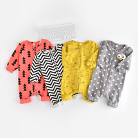 Baby Boy Clothes Geometry Pattern Long Sleeve Baby Rompers Newborn Cotton Baby Girl Clothing Jumpsuit Infant