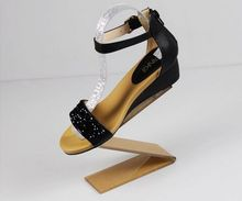 5pcs High-grade Z-type golden acrylic shoes display stand rack fashion sandls high heel shoe holder casual sneakers bracket
