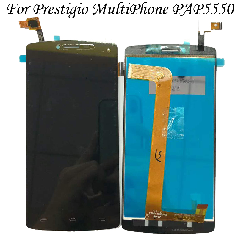 For Prestigio MultiPhone PAP5550 PAP 5550 DUO LCD Screen Display with Touch screen Digitizer Assembly Black White IN Stock