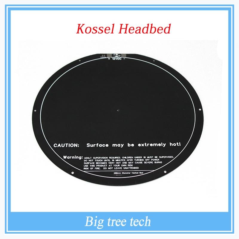 Kossel rostock delta circulaire chaude lit pcb 3d imprimante headbed delta 300mm
