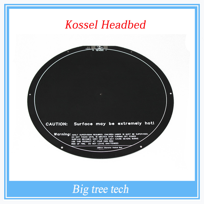 kossel rostock delta circular hot bed pcb 3d-printer met bed delta 300 mm