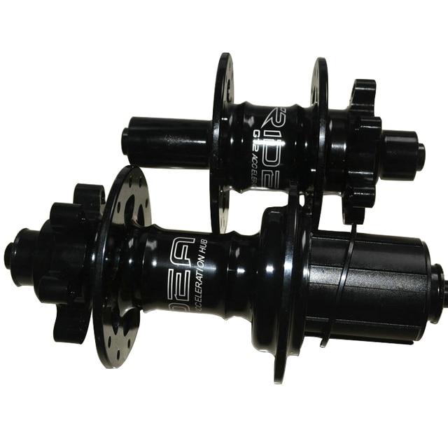 SEMA Ridea birdy moyeu liberacion rapida moyeu de frein à tambour de vélo pour système de frein à disque vélo de couleur noir ou argent 24 trous