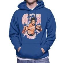 2019 fashion O-Neck Original Portrait of Bruce Lee Enter The Dragon Mens Hooded Sweatshirt
