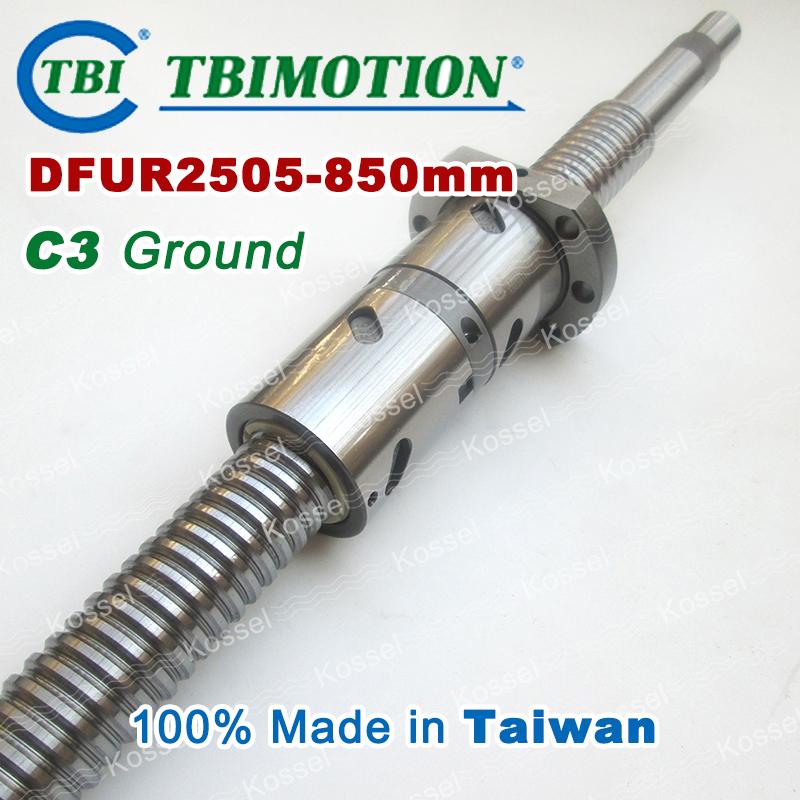 TBI 2505 C3 850mm ballscrews with DFU2505 ball nut + end machined for high precision CNC kit DFU set Custom горелка tbi sb 360 blackesg 3 м