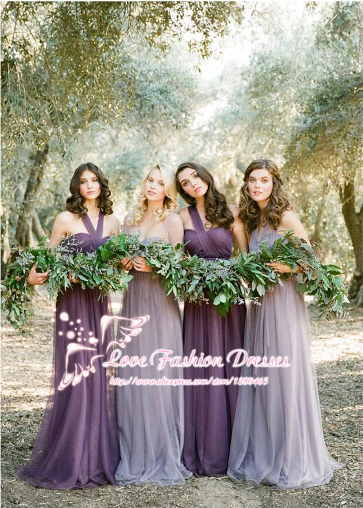fd6e31064e4b Light Purple Convertible Bridesmaid Dresses Six Styles in One Vestido de  Madrinha Longo Cheap Bridesmaid Dresses-in Bridesmaid Dresses from Weddings  ...