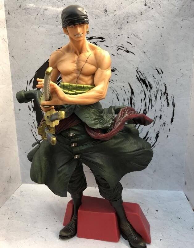 30cm One piece big size Roronoa Zoro Anime Action Figure PVC New Collection figures toys Collection for Christmas gift new hot 17cm one piece roronoa zoro action figure toys doll collection christmas toy with box combat version suolo5