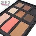 CIBBCCI Maquiagem 6 Sombra Rosto blush Palette Cosméticos 3 Paleta de Cores de Blush sombra de Olho Glitter Smoky Conjunto