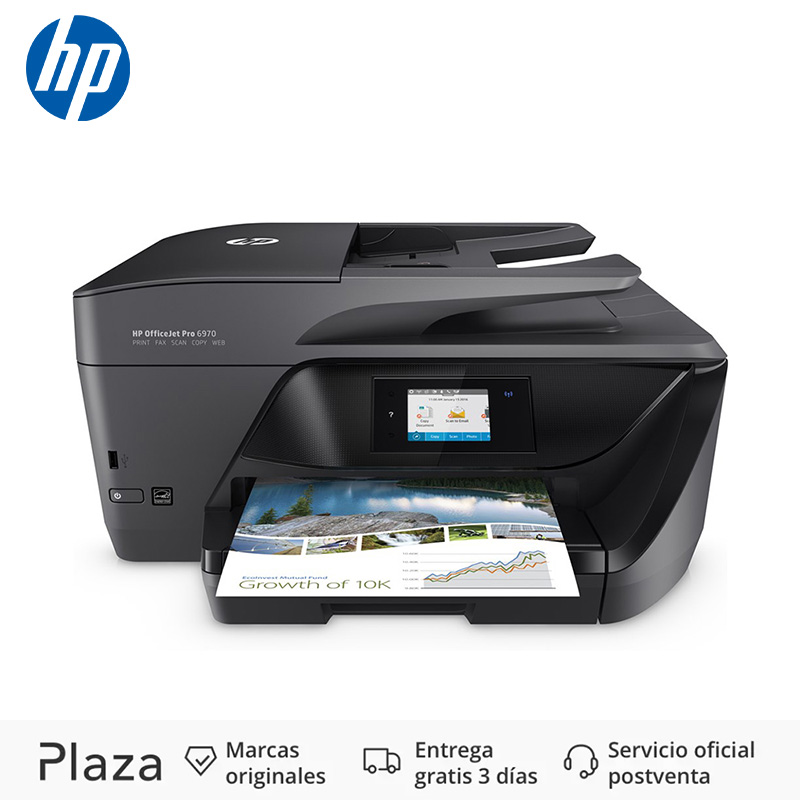 HP OfficeJet Pro OfficeJet Pro 6970 All-in-One Printer  Thermal Inkjet  600 X 1200 DPI  225 Sheets  A4  Direct Printing  Black