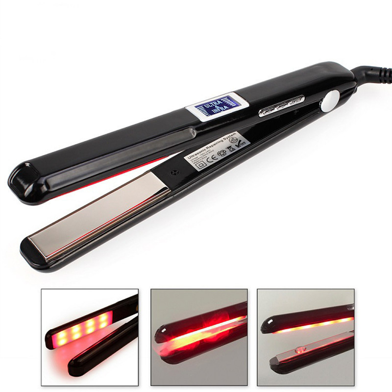 3D Display Electric Steam Hair Straightener Straightening Hair Irons Straight Hair Brush 450F Temperature EU Plug US Plug
