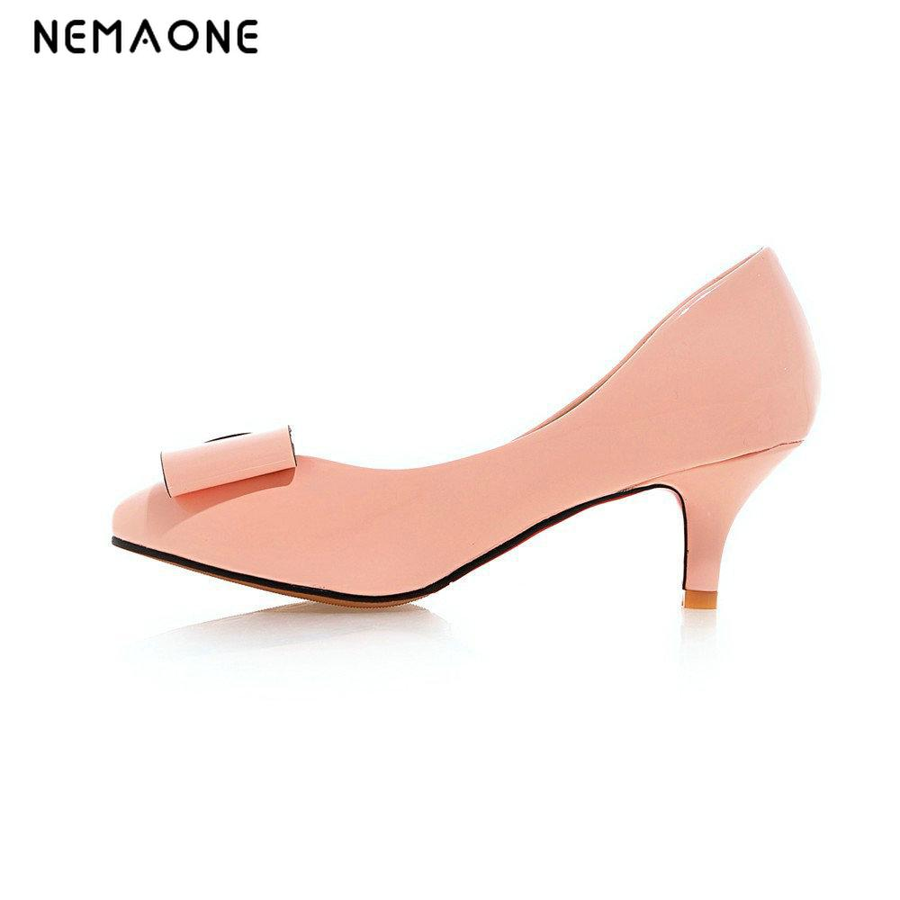 NEMAONE High heels shoes woman 2017 Genuine suede leather women Pumps Thin Spike Heel Pointed Toe Spring Free shippinng