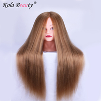 Mannequin Training Head Female Dolls Head With Hair Manikin 100 Heat Resistant Synthetic Fiber Mannequin Heads
