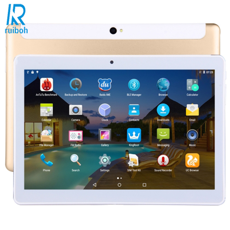 10.1 inch Tablet PC Android 5.1 3G Lte RAM 4GB ROM 32GB Bluetooth GPS Wi-Fi Tablet PC Tablet Computer Tablets (Metal Back Shell