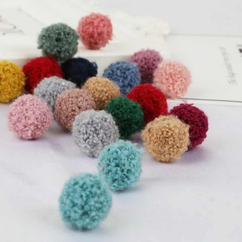 10pcs/lot Pompom 15/20mm Soft Pompones Fluffy Plush Crafts DIY Furball Home Decor Sewing Supplies For Christmas Tree Decoration