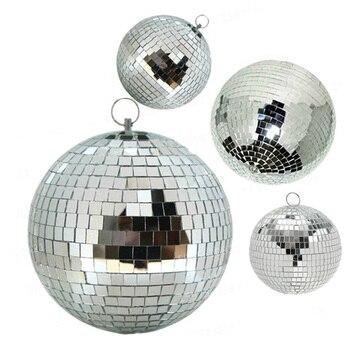 Thrisdar Dia15CM 20CM 25CM 30CM Reflection Glass Mirror Disco Ball Sliver Rotating Mirror Ball for Home Party KTV Disco Pub