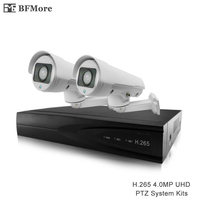 BFMore 2ch H 265 PTZ 4 0MP System Kits Outdoor Waterproof IP Camera 5 50mm 10X