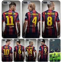 Суарес Месси Neymar Сильва Жесткий Прозрачный Чехол Case для iPhone 7 7 плюс 6 6 S Плюс 5 5S SE 5C 4 4S