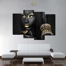 Wall Art HD Canvas Painting Picture Prints And Poster Black Cool Make-up Lady Decoration Home Living Room