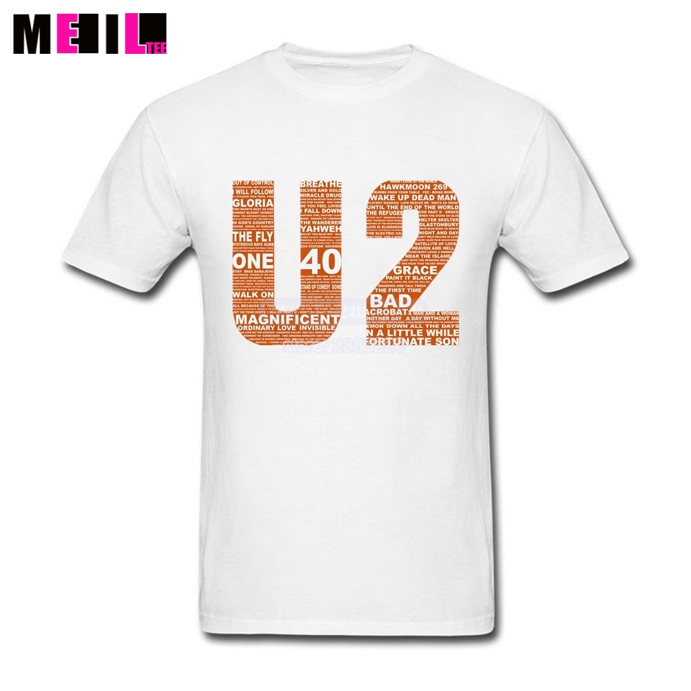 Design t shirt logo online - Cool Men U2 Band Logo Design Tshirt Short Sleeve Tshirts Plus Size Printed T Shirts Buy Online