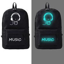 Flyone  Men Women's Student Cartoon School Bags Casual Backpack Fashion Noctilucent Men's Backpack Anime Luminous Teenagers Bag