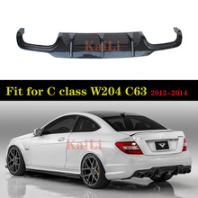 цены W204 C63 Carbon Fiber Rear Lip Spoiler Diffuser for Mercedes Benz W204 C63 AMG C300 Sport 2012 - 2014