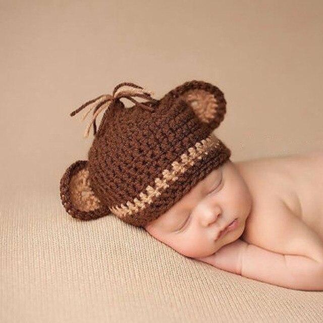 Baby Monkey Hat Newborn Knit Hat Knit Monkey Hat Baby Boy Photo Prop Baby  Girl 01a3bdac5890