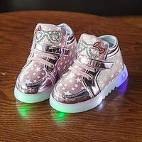 Hot New Baby Girls LED Light Shoes Toddler Anti Slip Sports Boots Kids Sneakers Children S