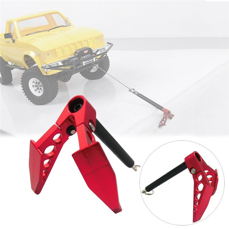 Metal 1:10 plegable Winch ancla tierra ancla decoración herramienta para RC coche Tamiya CC01 Axial SCX10 D90 D110 Accesorios